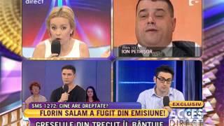 """Motivul pentru care Florin Salam a fugit din platoul emisiunii """"Necenzurat"""""""