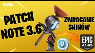 RETURNING SKINS IN FORTNITE! NEW GRENADE! -PATCH NOTE 3.6