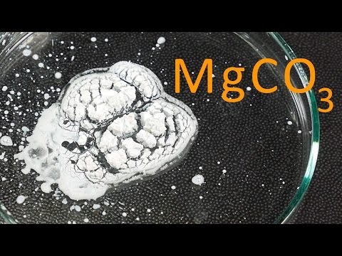 Formación De Carbonato De Magnesio. Reacción De Precipitación.