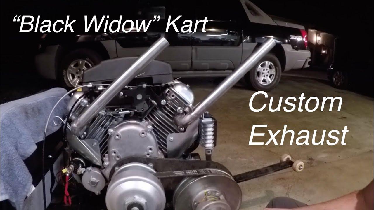 V Twin Go Kart Custom Header, Intake Mods,