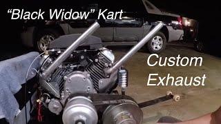 "V Twin Go Kart Custom Header, Intake Mods, ""Black Widow"" Paint"