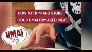 Trimming and Steaking out after Dry Aging with UMAi Dry