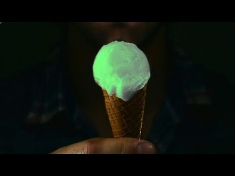 Glow In The Dark Ice Cream Synthesized From Jellyfish Protein