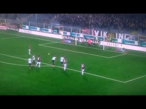 Leali para il rigore a Matri in Cesena-Genoa 0-3