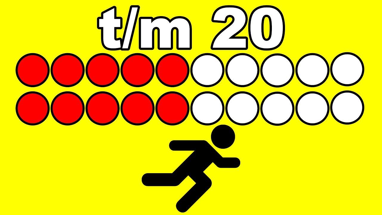 GETALBEGRIP T/M 20 - REKENEN met meester Richard || getalbeeld voor GROEP 2
