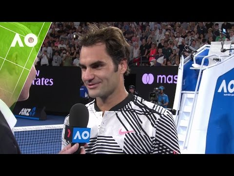 Roger Federer on court interview (4R) | Australian Open 2017
