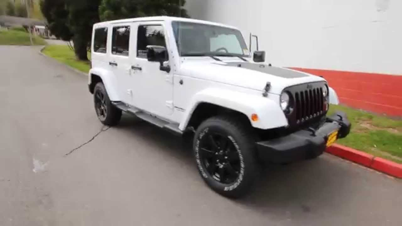 2014 Jeep Wrangler Unlimited Sahara  White  EL261828  seattle