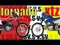 Yamaha XTZ 250 VS Honda Tornado 250  - Stunt