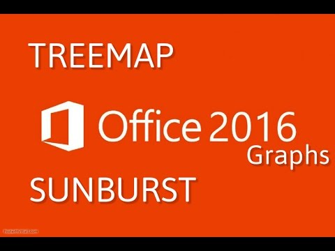 Office 2016 : Create TreeMap & Sunburst chart in Excel