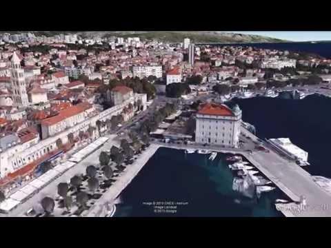 Split, Croatia - 3D aerial view 2