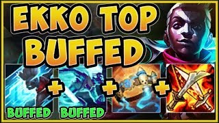 WHAT IS RIOT THINKING?? NEW EKKO BUFFS TURN HIM INTO 1v9 MACHINE! EKKO TOP S9! - League of Legends