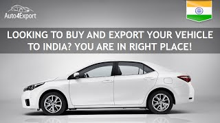 Shipping cars from USA to India - Auto4Export