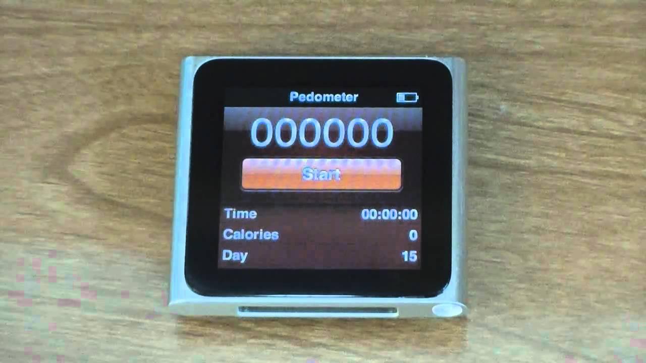 Pedometer & Fitness App iPod Nano 6G