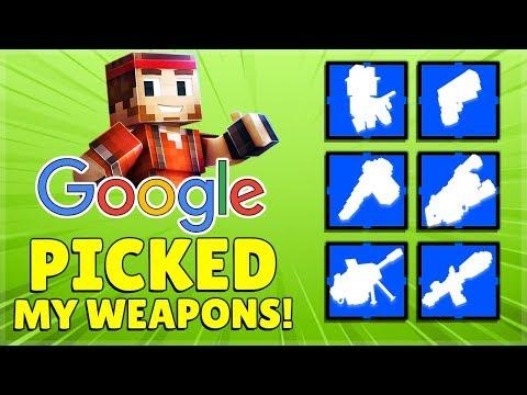 I Let GOOGLE Random Generator Pick My Weapons!   Pixel Gun 3D