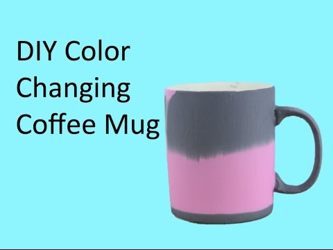 diy color changing coffee mug youtube