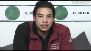 ELBKICK.TV - Ansage von Daniel Ude (TuS Osdorf) an seinen Bruder Toni (SVHR)