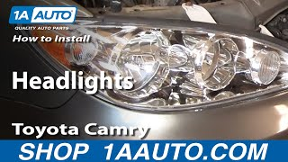 How To Install Replace Headlights Toyota Camry 02-06 1AAuto.com