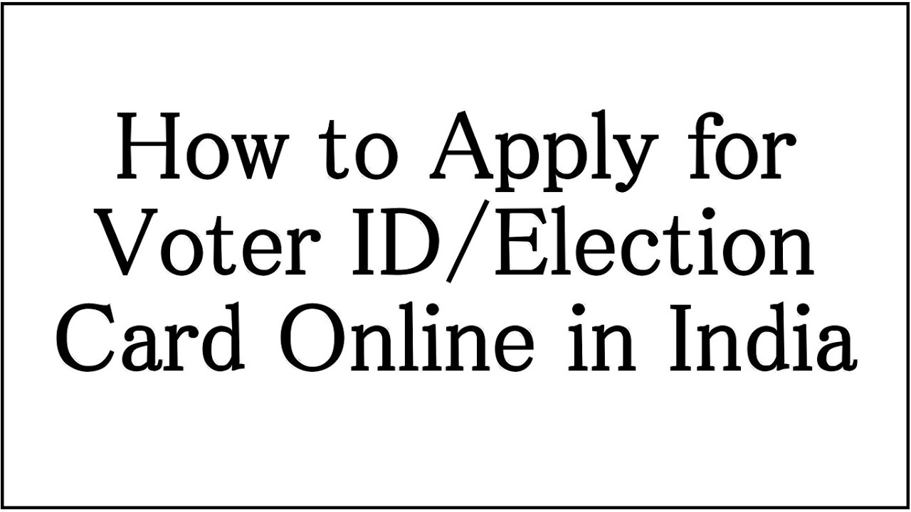 Online color voter id card gujarat - How To Apply Online For Voter Id Election Card In India