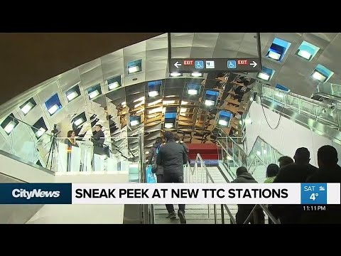 Sneak peek at new TTC subway stations to open in December