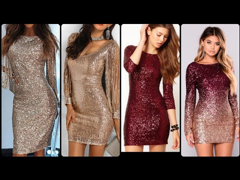 Gorgeous And Dazzling Sparkling Bodycon Dresses For Pretty Girls.