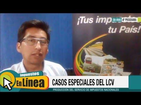 Programa 4: Llenado del LCV (Casos Especiales)