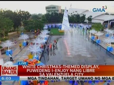 UB: White Christmas-themed display, puwedeng i-enjoy ng libre sa Valenzuela city