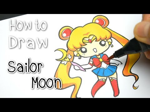 "HOW TO DRAW : Cute Sailor Moon ★สอนวาด ""เซเลอร์มูน"" น่ารักๆ ★Kawaii Cartoon Characters✿"