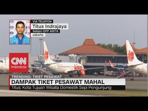Tiket Pesawat Masih Mahal, Titus: Wisatawan Jadi Sepi