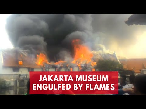 Jakarta museum engulfed by flames