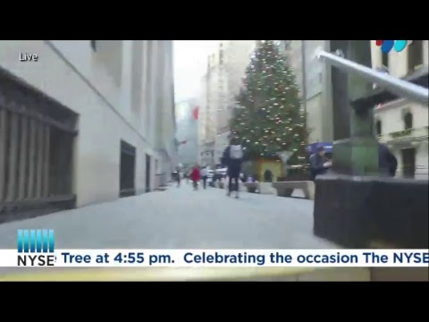 The New York Stock Exchange Celebrates the 94th Annual NYSE Holiday Tree Lighting