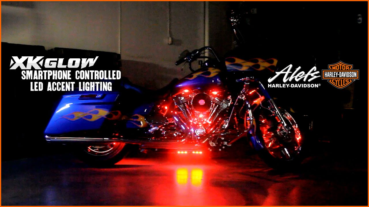 Dan Alefs Bike With Xk Glow Led Lighting Youtube
