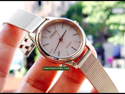 (REVIEW ĐỒNG HỒ) CITIZEN EM0503-83X ECO DRIVE LADIES WATCH 32MM | TIMEWISE