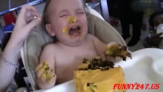 おかしい赤ちゃん食ケーキ2017★おかしい赤ちゃんのビデオ★子供のためのおかしいビデオ ...