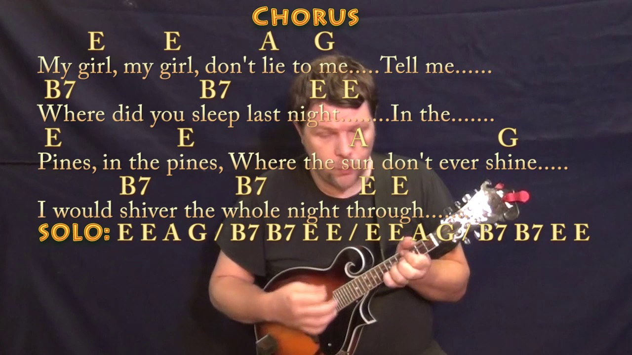 Where Did You Sleep Last Night Nirvana Mandolin Cover Lesson In E