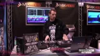TMNtv - NAMM 2008 - MIXVIBES - DJ TROUBL performance