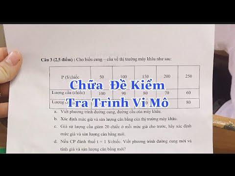 Bài Tập Cung Cầu | Vi Mô | Chị Hương