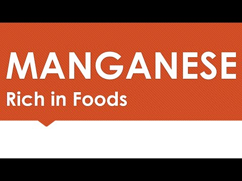 Manganese Rich In Foods - NATURAL MINERALS IN FOODS - BENEFITS OF WELLNESS