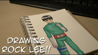 Drawing Rock Lee from Naruto! (Fan Art)