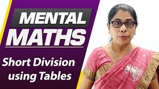 Learn basic of mental Maths for beginners   Short Division using Tables   Maths Tricks