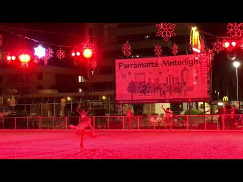 Parramatta winter fair festival skating Show 2016