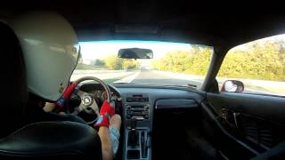 "Honda NSX onboard ""following"" Nissan GT-R R35 - Hungaroring trackday 2012.10.03"