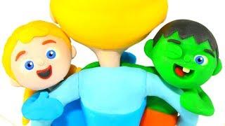 SUPERHERO BABIES PLAY HIDE & SEEK ❤ Superhero Babies Play Doh Cartoons For Kids thumbnail