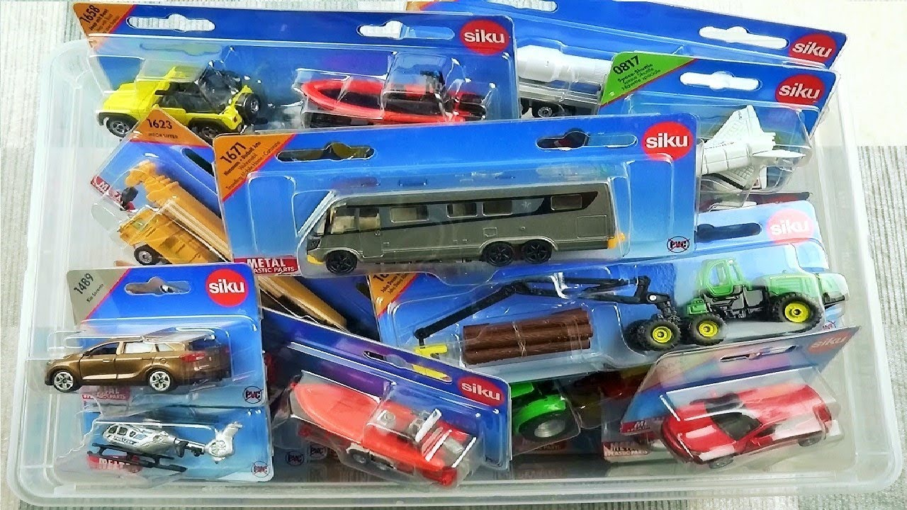 Box Full of Cars Siku  Video for Kids New cars Siku Caja llena de coches