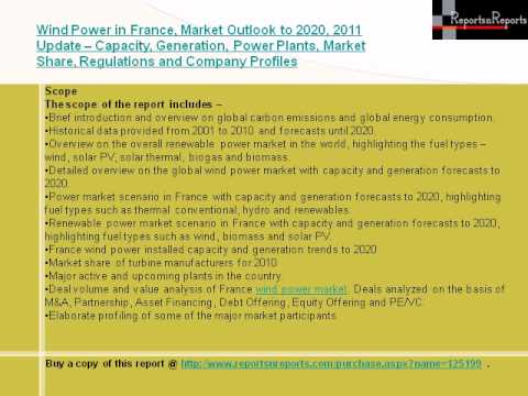Wind Power Market in France, Market Outlook to 2025 Capacity, Generation, Levelized Cost of Energy