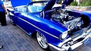 Blue '57 Chevy & Black '64 Chevy; Cruisin Grand 10-2-2015