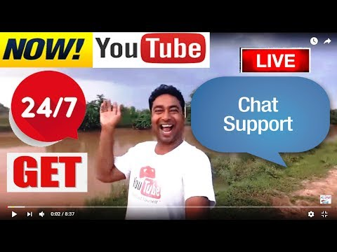 NOW GET - YOUTUBE'S 24/7 CHAT SUPPORT ! LIVE DEMO ! How to get youtube Chat Support!