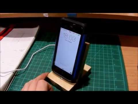 iPhone Dock - DIY - CHEAP but AWESOME!