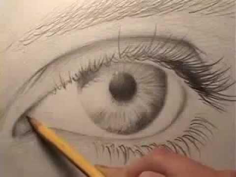 كيفية رسم العين بالرصاص Youtube