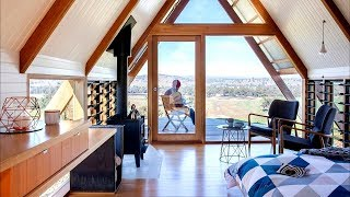 A-frame Tiny House | 28 M2 A-frame Cabin! | Design Ideas