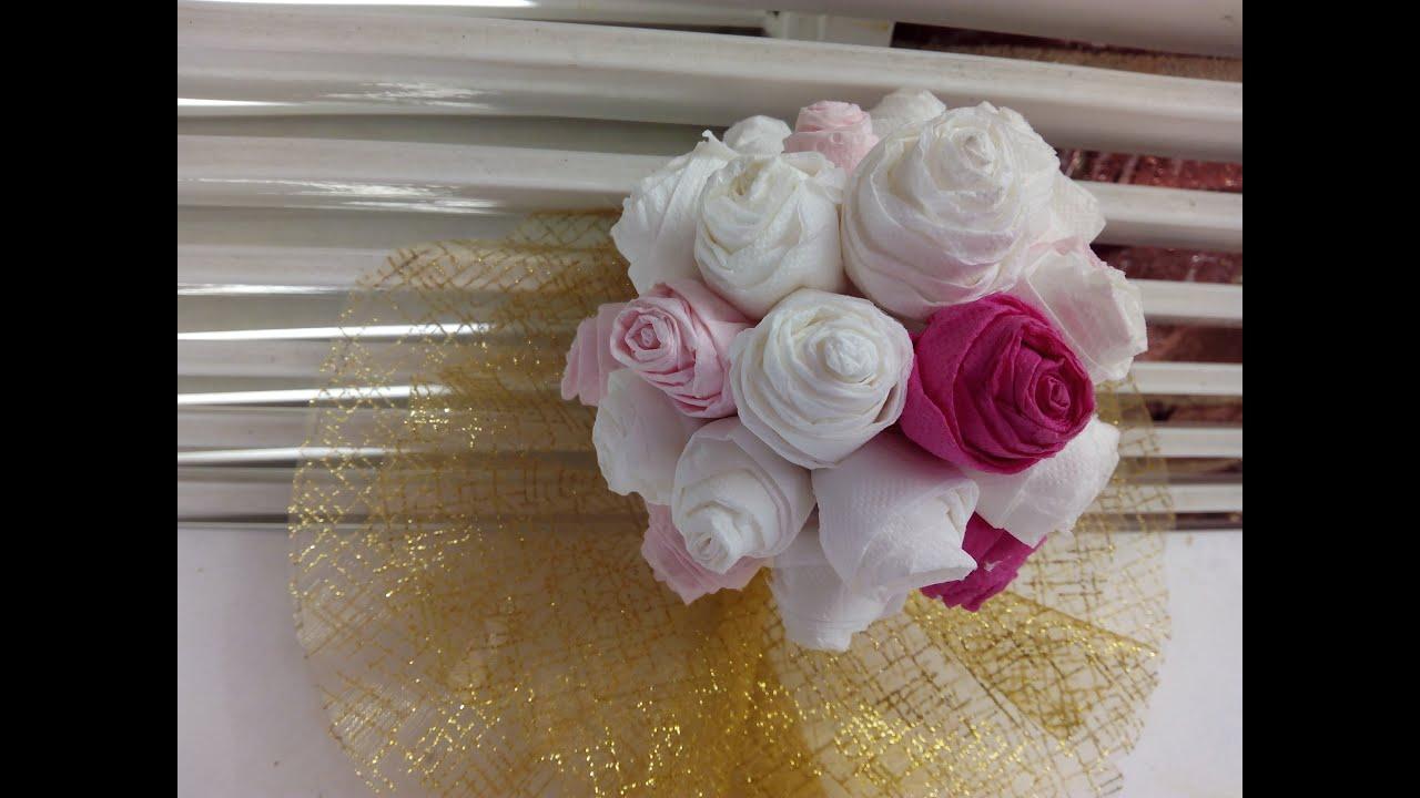 Como hacer un ramo de novia por 1 9 youtube - Como hacer un cabecero de tela ...
